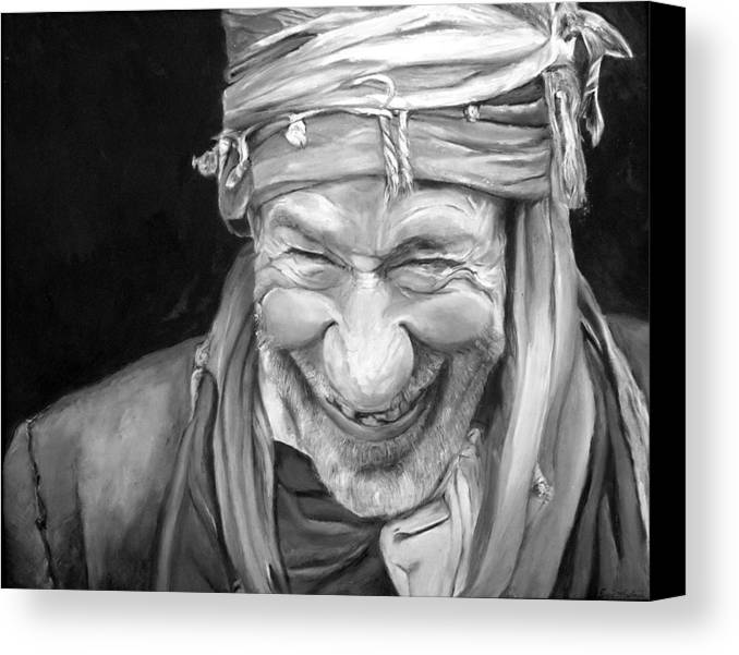 Man Canvas Print featuring the painting Iranian Man by Enzie Shahmiri