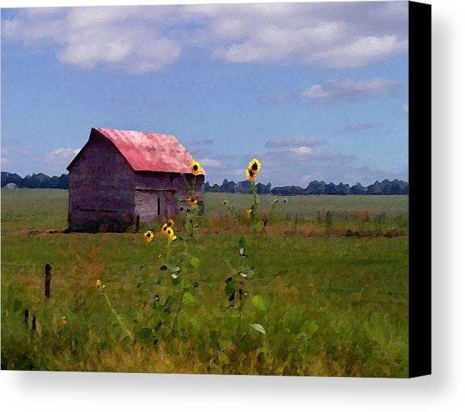 Landscape Canvas Print featuring the photograph Kansas Landscape by Steve Karol