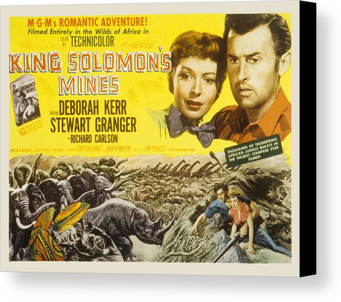 1950 Movies Canvas Print featuring the photograph King Solomons Mines, Deborah Kerr by Everett