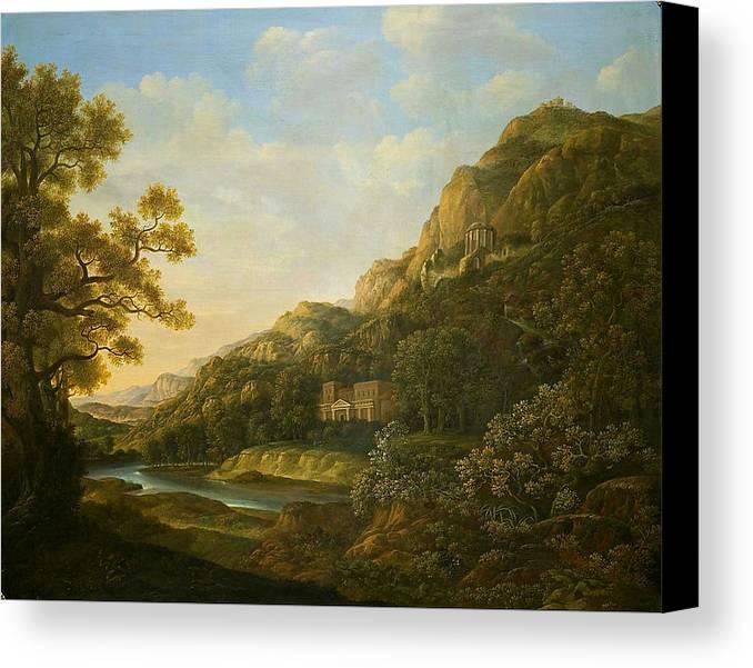 Landscape Painter 18th-19th Canvas Print featuring the painting Landscape Painter by MotionAge Designs
