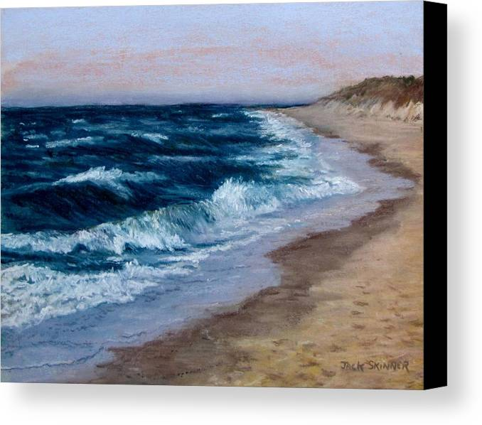 Ocean Canvas Print featuring the painting Late Spring At Cold Storage Beach by Jack Skinner