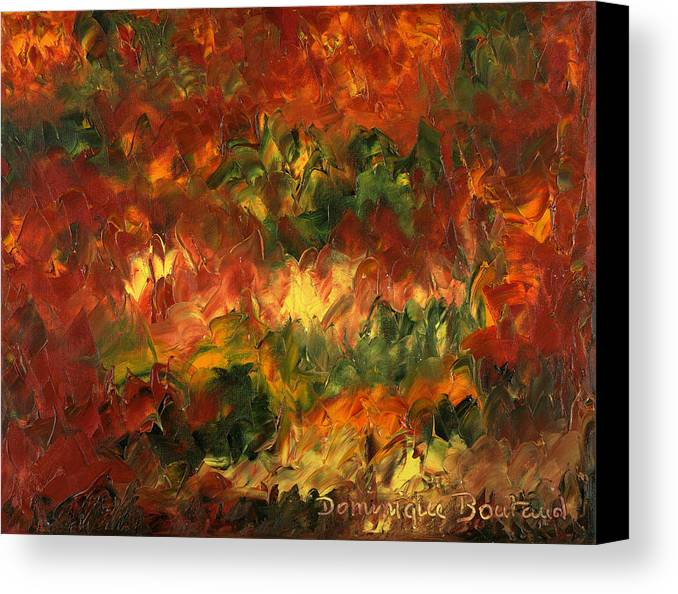 Abstract Canvas Print featuring the painting Le Feu Et La Vie 2 by Dominique Boutaud