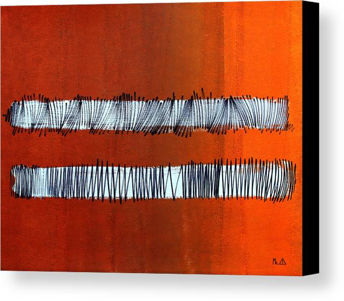 Bars Canvas Print featuring the painting Lib-598 by Artist Singh