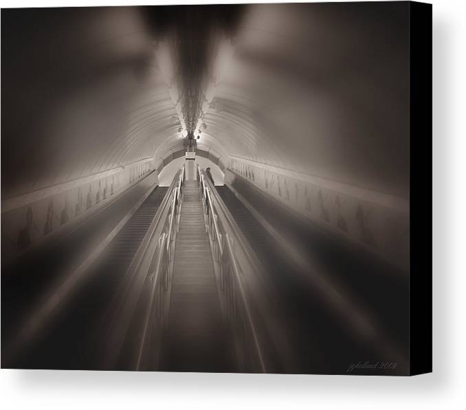 London Canvas Print featuring the photograph Light At The End by Joseph G Holland