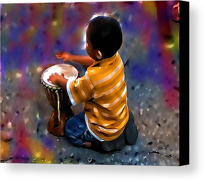 Drums Canvas Print featuring the photograph Little Drummer Boy by James Mingo