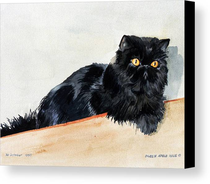Portrait Canvas Print featuring the painting Lizzy by Eileen Hale