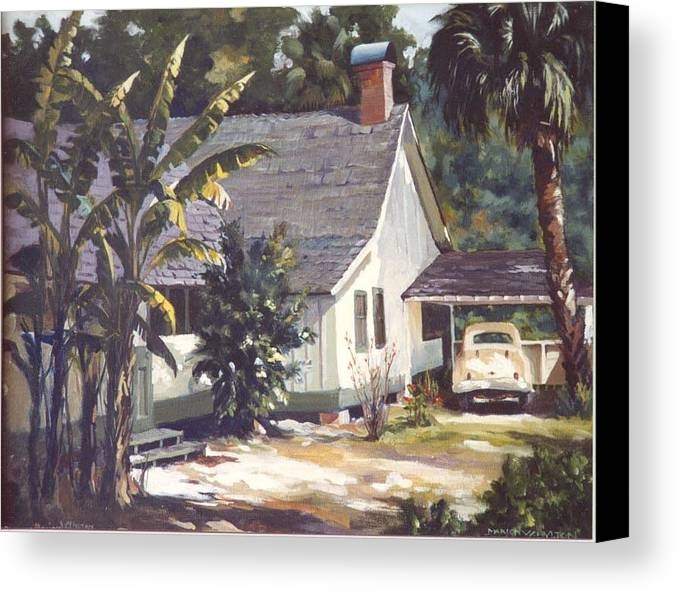 House Canvas Print featuring the painting M. K. Rawlings House by Marion Hylton