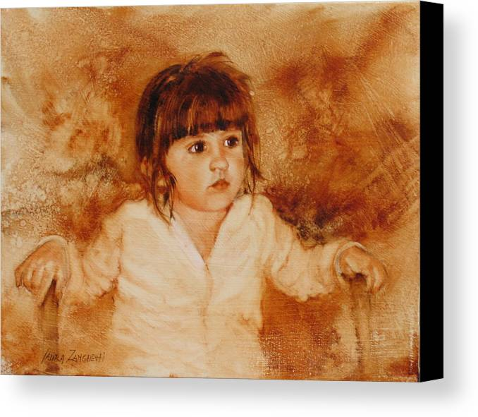 Oil Painting Canvas Print featuring the painting Madison by Laura Lee Zanghetti