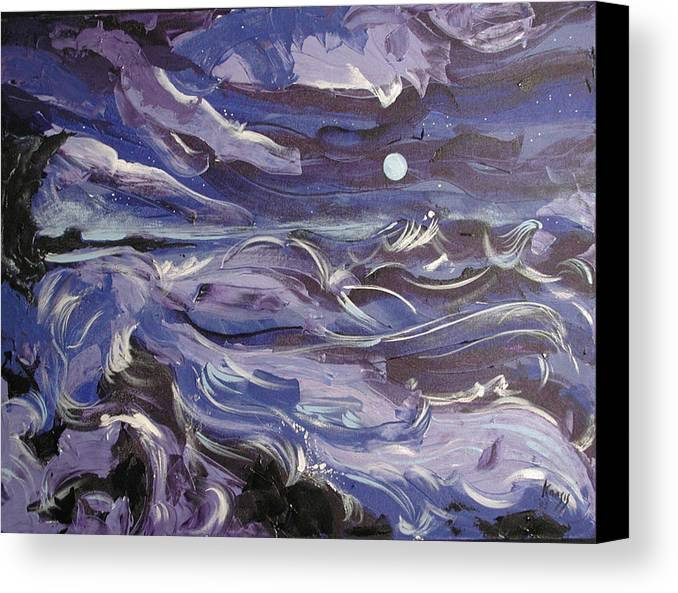 Sea Canvas Print featuring the painting Mar Bravo by Rollin Kocsis