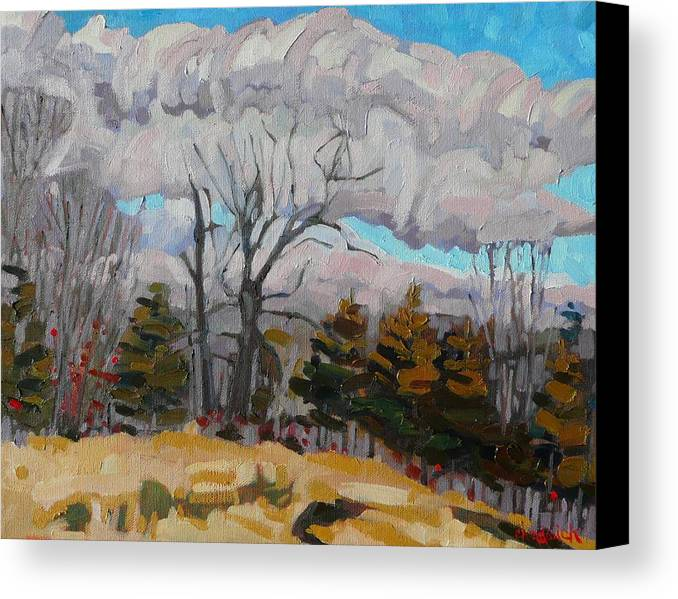 1022 Canvas Print featuring the painting November Sky 2008 by Phil Chadwick