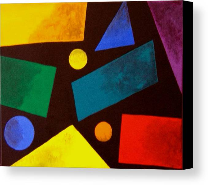 Abstract Canvas Print featuring the painting Odd Man Out by Linda Powell