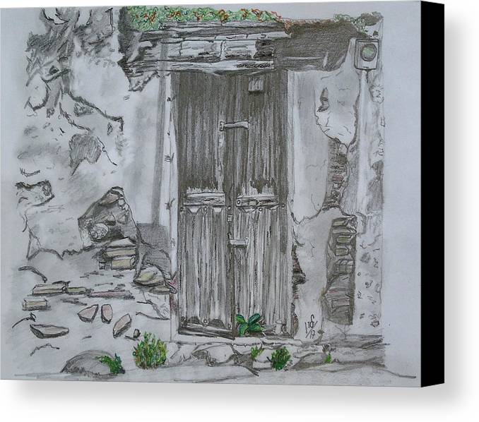 door pencil drawing bedroom door pencil drawing canvas print featuring the drawing old doors by maria woithofer art