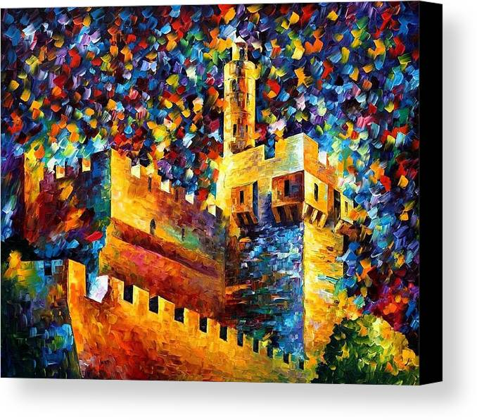 Afremov Canvas Print featuring the painting Old Jerusalem by Leonid Afremov