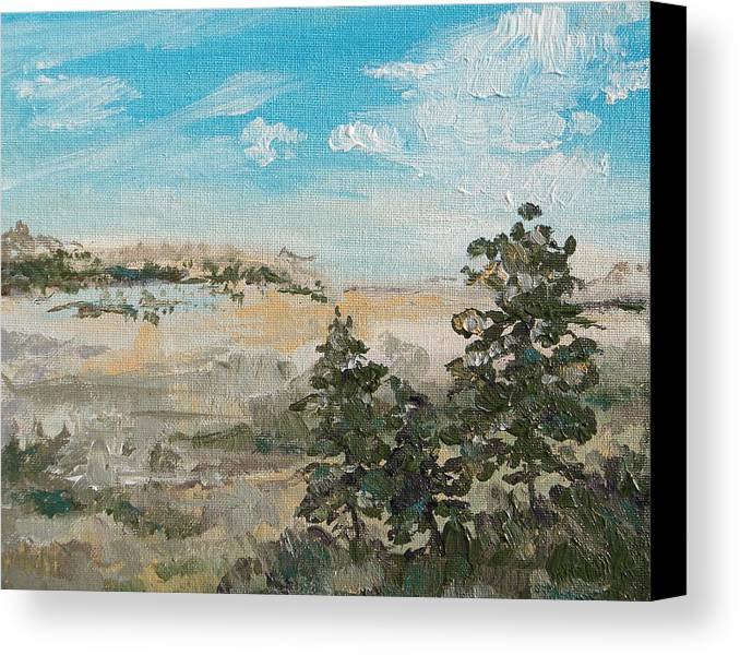 Outlook Canvas Print featuring the painting Outlook by Sandy Tracey