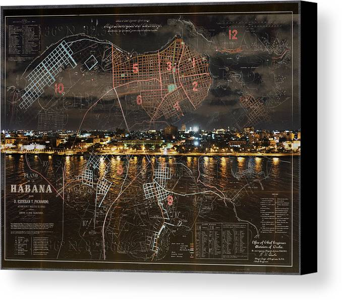 Cuba Canvas Print featuring the photograph Overnight In Havana by Sharon Popek