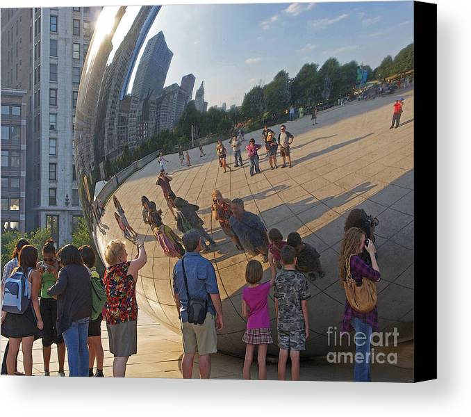 Chicago Canvas Print featuring the photograph Photographers All by Ann Horn