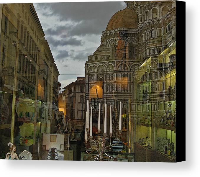 Italy Canvas Print featuring the photograph Piazza Del Duomo by Sonia Melnikova-Raich