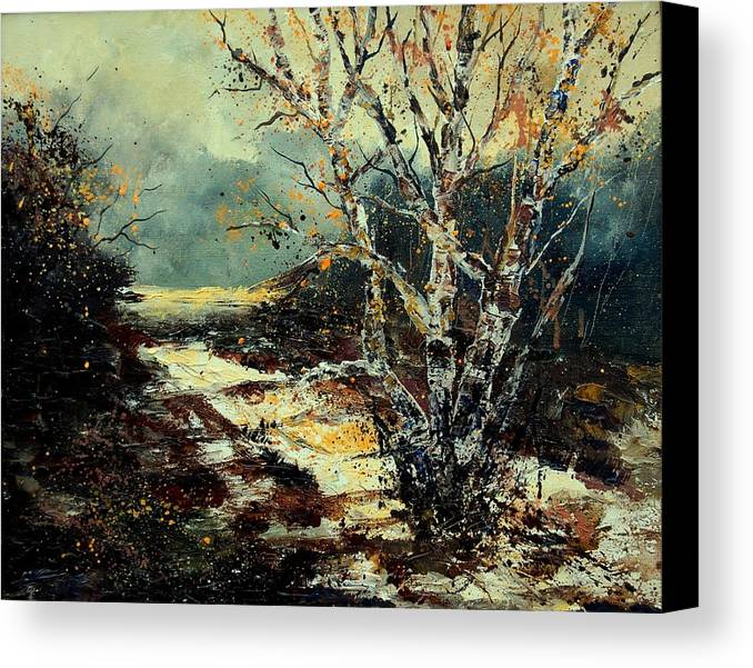Tree Canvas Print featuring the painting Poplars 45 by Pol Ledent