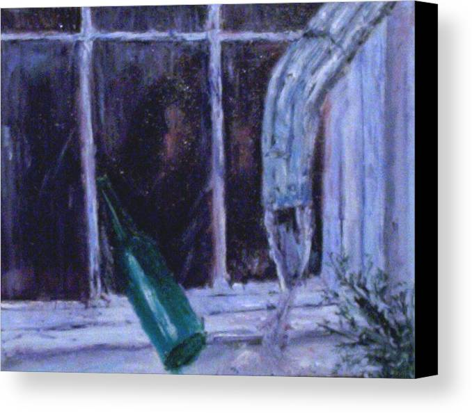 Original Canvas Print featuring the painting Rainy Day by Stephen King