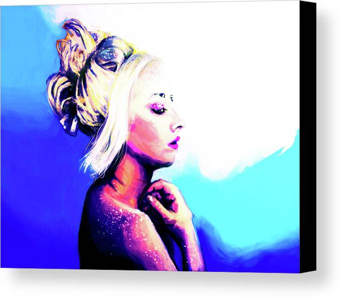 Woman Canvas Print featuring the digital art Raw by Michael Amos
