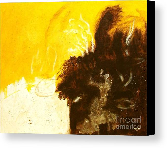 Abstract Canvas Print featuring the painting Reckless Abandon by Itaya Lightbourne