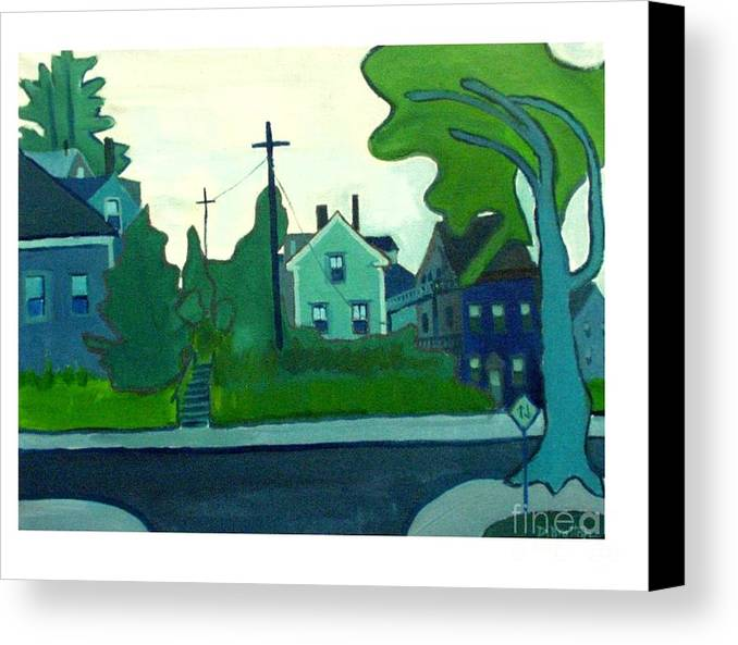 Landscape Canvas Print featuring the painting Rocky Neck Art Colony East Gloucester Ma by Debra Bretton Robinson