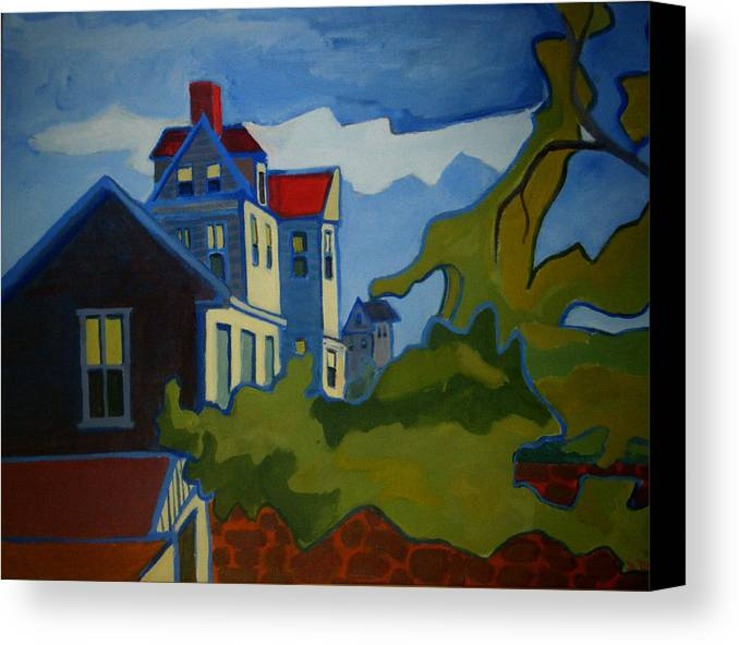 Buildings Canvas Print featuring the painting Sarah Paul by Debra Bretton Robinson