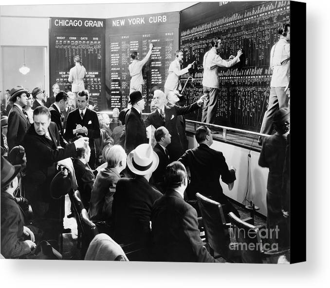 -banks & Banking- Canvas Print featuring the photograph Silent Still: Banking by Granger