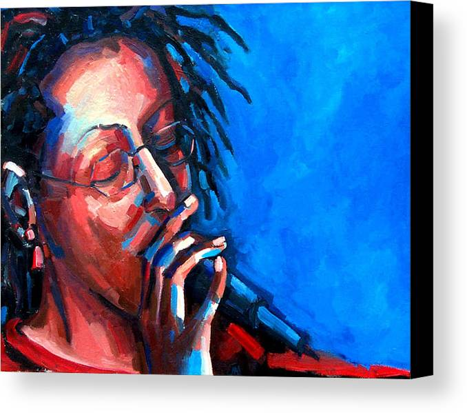 Portrait Canvas Print featuring the painting Since I Fell For You by Jackie Merritt