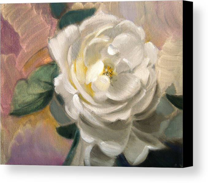 Floral Roses Canvas Print featuring the painting Single Rose by Patrick McClintock