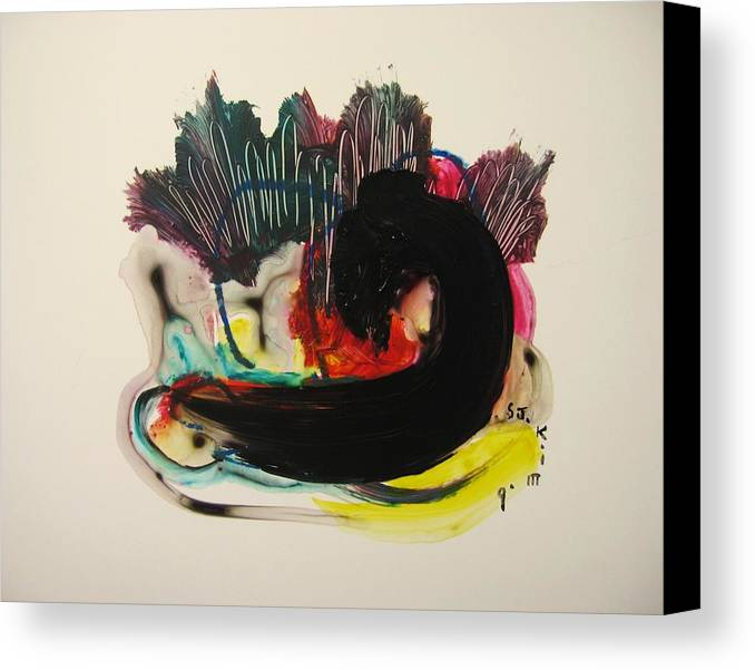 Red Yellow Paintings Canvas Print featuring the painting Small Landscape 69 by Seon-Jeong Kim