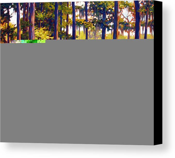 Marshes; Egrets; Low Country; Palmetto Trees Canvas Print featuring the painting Southern Breeze by Ben Kiger