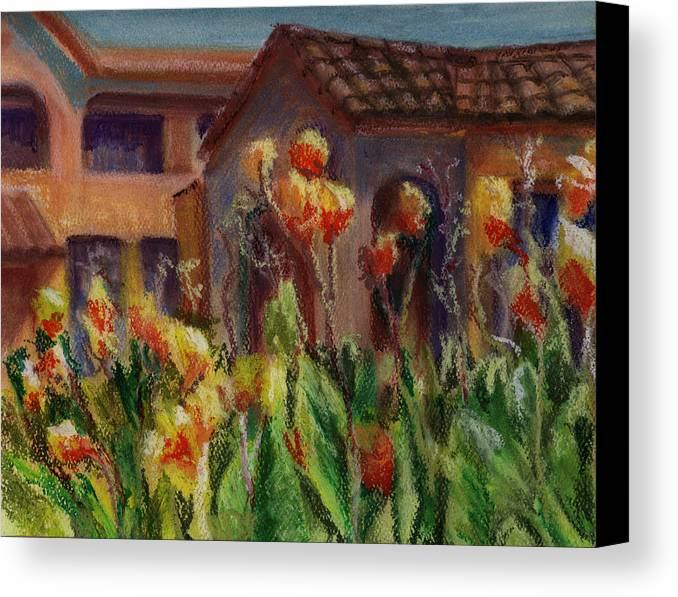 House Canvas Print featuring the painting Spanish Abode by Patricia Halstead