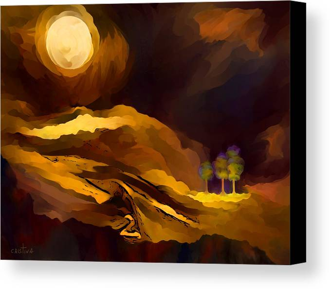 Spiritual Landscape Canvas Print featuring the painting Spiritual Landscape by Cristina Edelman