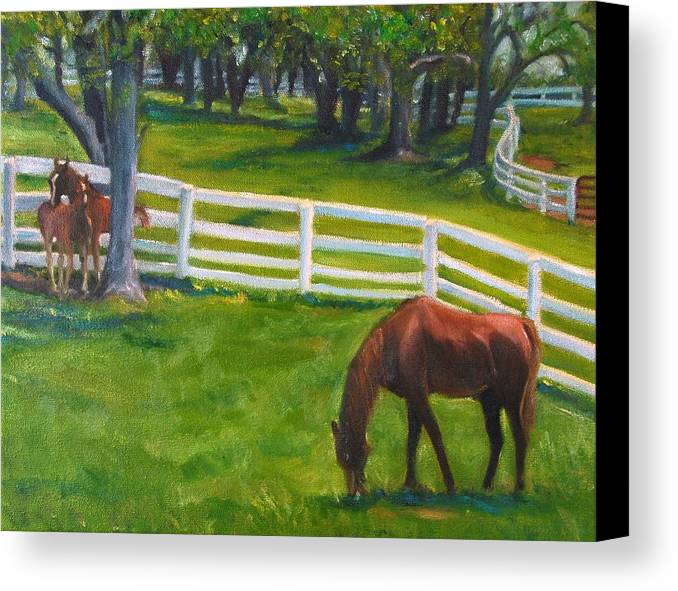 Equine Canvas Print featuring the painting Springtime At Undulata by Stephanie Allison