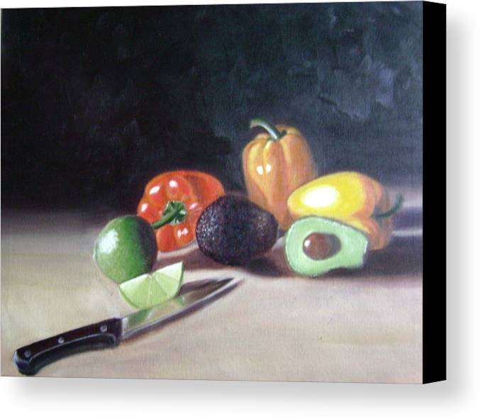 Canvas Print featuring the painting Still-life by Toni Berry