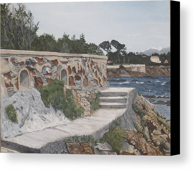 Scenery Canvas Print featuring the painting Stone Wall France by Betty-Anne McDonald
