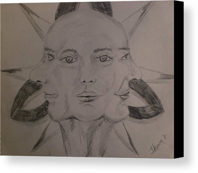 Trinity Canvas Print featuring the drawing Study by Jessica Mason