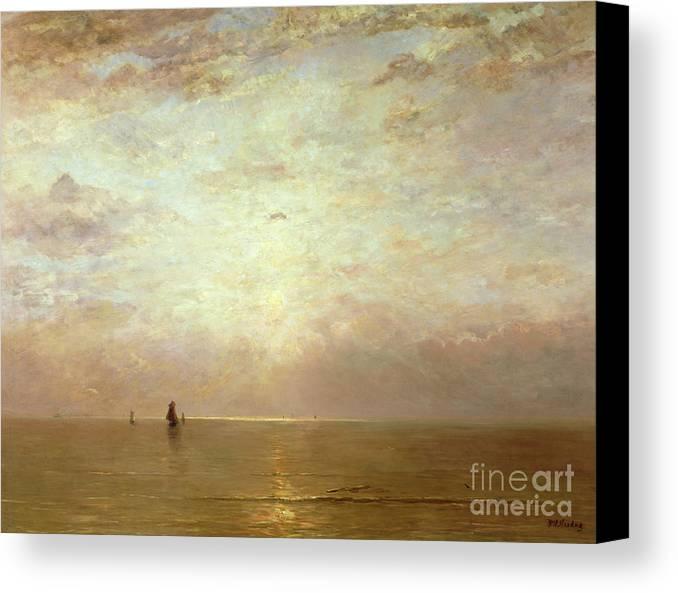 Hendrik William Mesdag Canvas Print featuring the painting Sunset by Hendrik William Mesdag