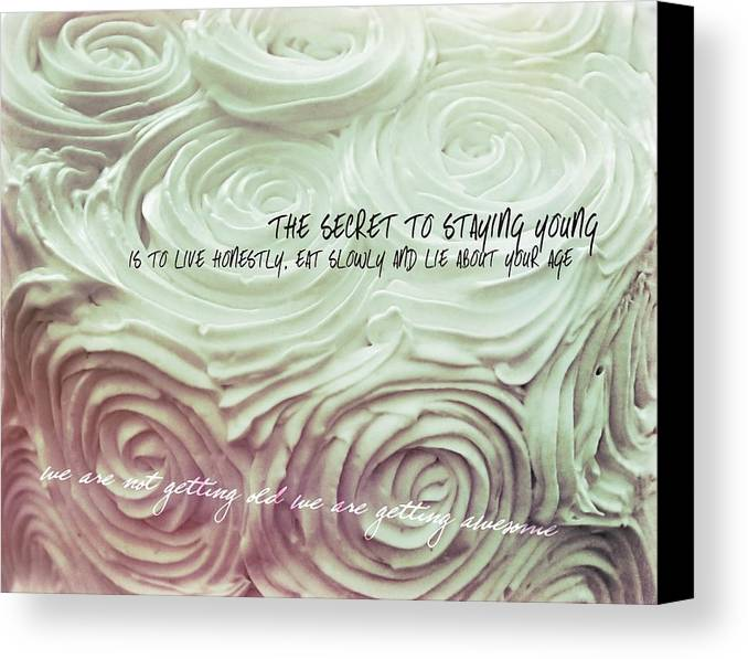 Happy Canvas Print featuring the photograph Sweet Roses Quote by JAMART Photography