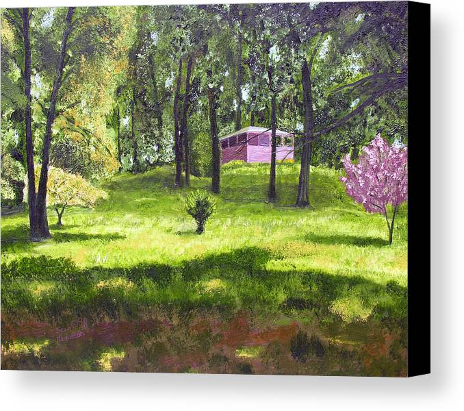 Landscape Canvas Print featuring the painting T C Steels by Stan Hamilton