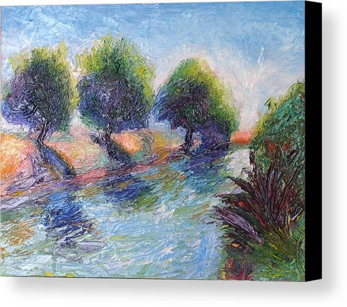 Landscape Canvas Print featuring the painting The Delta by Kennedy Paizs