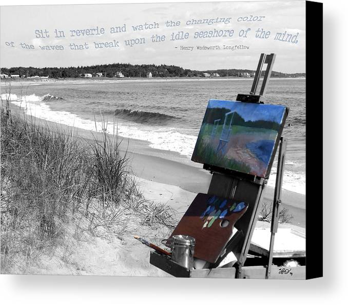 Digital Photography Canvas Print featuring the photograph The Seashore by Sharon Crawford