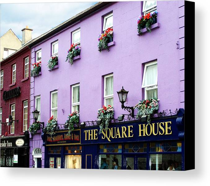 Irish Canvas Print featuring the photograph The Square House Athlone Ireland by Teresa Mucha