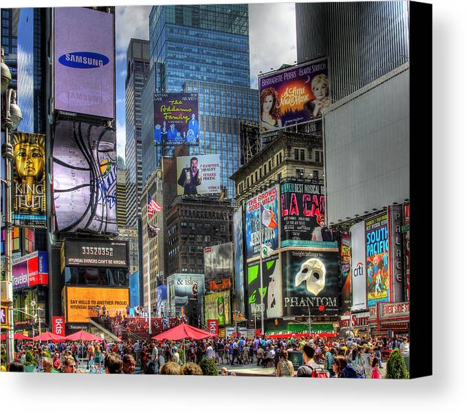 In Focus Canvas Print featuring the photograph Times Square by Joe Paniccia