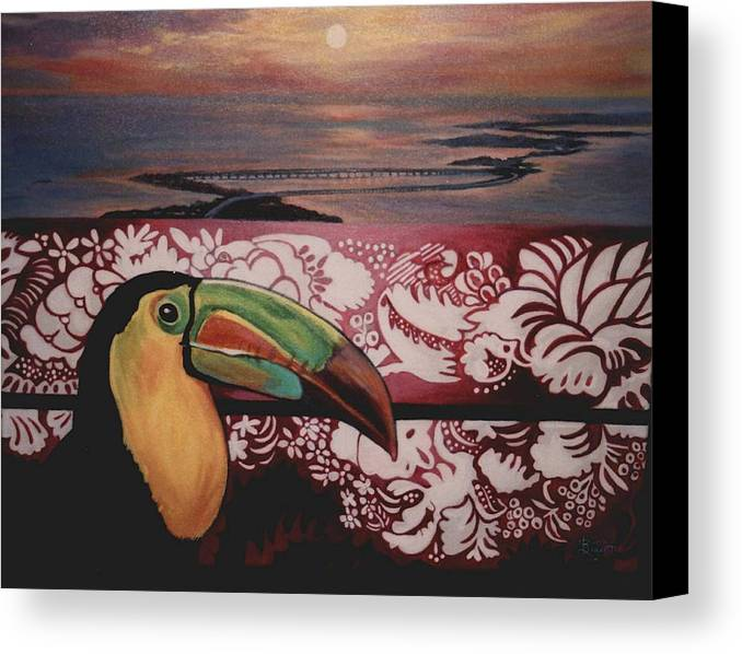 Bird Canvas Print featuring the painting Toucan by Diann Baggett