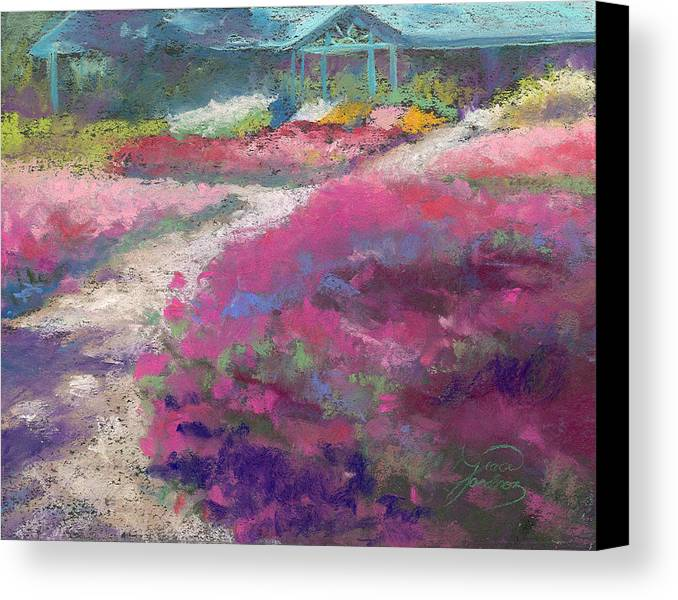 Landscape Canvas Print featuring the painting Trial Gardens In Fort Collins by Grace Goodson