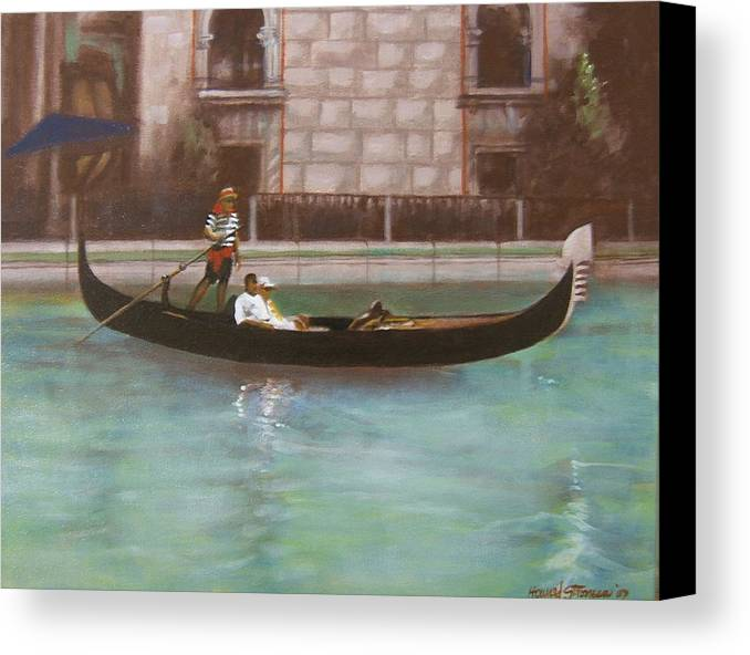 Smooth Sailing Canvas Print featuring the painting Venetian by Howard Stroman