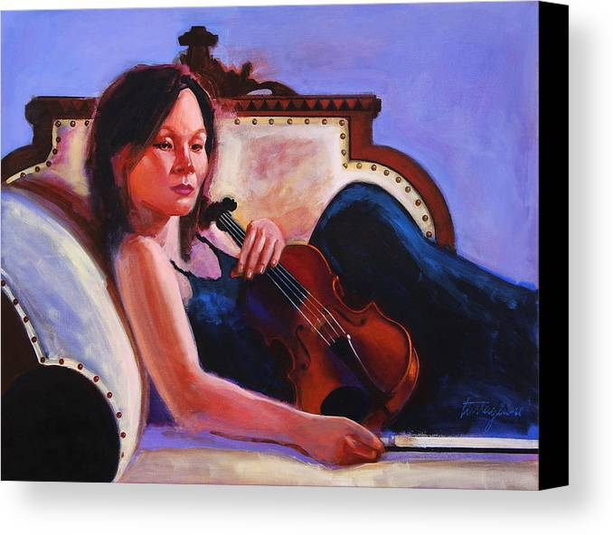 Portrait Canvas Print featuring the painting Violino by John Tartaglione