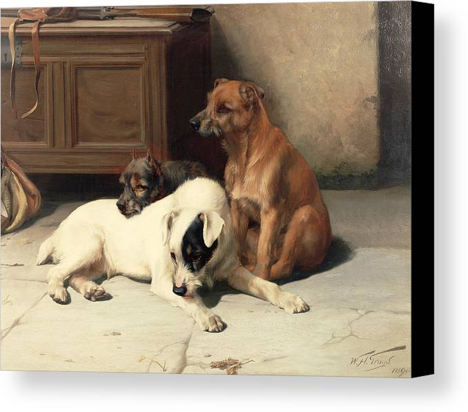 Waiting For Master Canvas Print featuring the painting Waiting For Master by William Henry Hamilton Trood